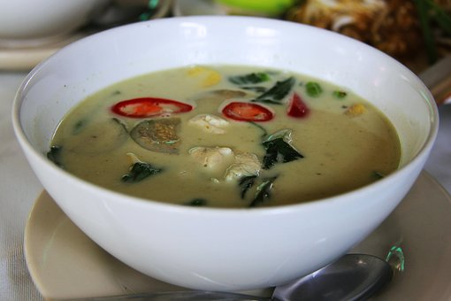 Green Curry, Curry, Chilli, Hot, Spicy, Meat, Chicken