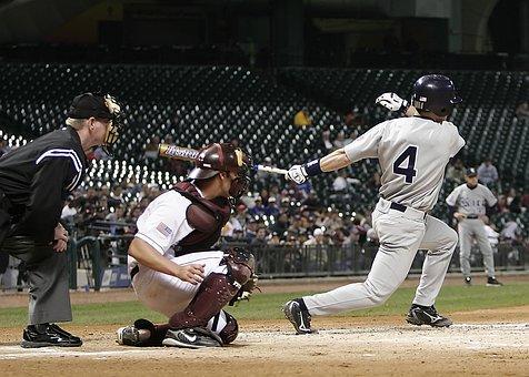 Baseball, Game, Hit, Hitter, Home Plate, Swing, Catcher