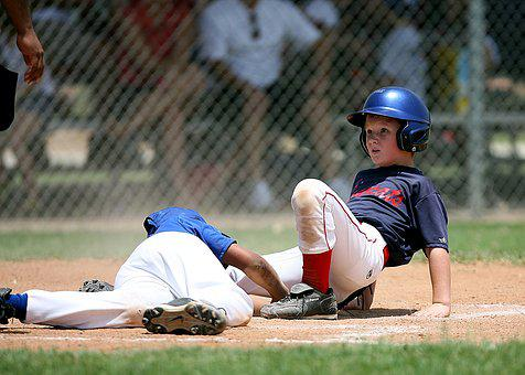 Baseball, Play At The Plate, Players, Game, Home Plate