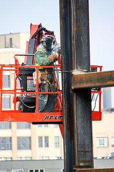 Construction Worker, Welder, Industrial, Welding