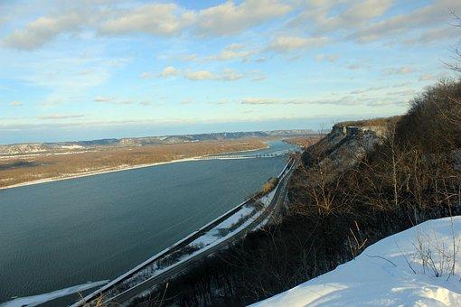 Mississippi River, Bluff, Landscape, Scenic, River