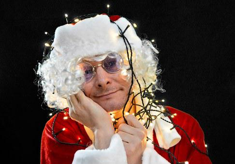 Christmas, Xmas, Santa, Lichterkette, Lights, Light