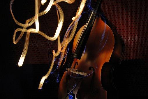 Double Bass, Upright Bass, Flashlight, Light Painting