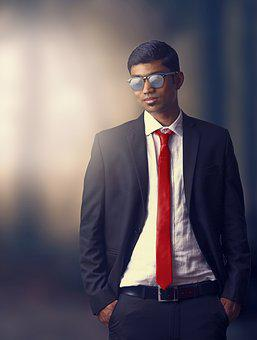 Person, Suit, Male, Elegant, Tie, Young, Red, Man