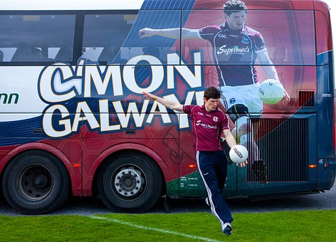 Galway, Football, Kick, Bus, Michael, Meehan