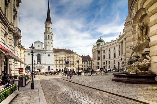 Vienna, Downtown, Michaelerplatz, St Michael's Church