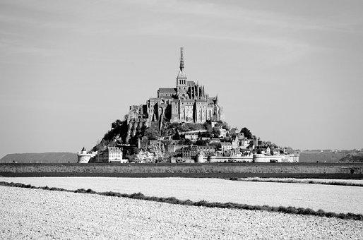 Mont Saint-michel, France, Monument, Heritage, Church