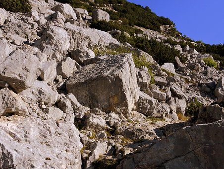 Rocks, Sassi, Mountain, Rock, Landslide, Rubble