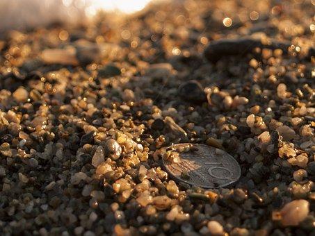 Ancient Coin, Coins, Beach, Sassi, Pebble Beach, Nature