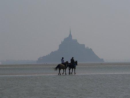 Sea, Mont Saint Michel, Normandy, Landscape