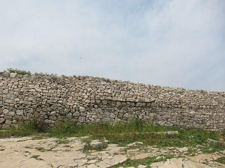 Wall, Sassi, Sky, Stones, Old, Medival, Fence
