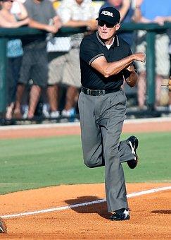 Baseball, Umpire, Call, Out, Field, Baseball Umpire
