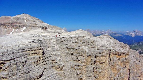 Sass Pordoi, Peak, Pordoi, Alps, Dolomiti, Landscape