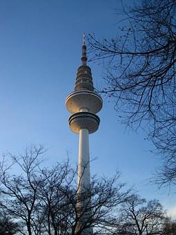 Hamburg, Tv Tower, Planned Un Blomen, Hanseatic