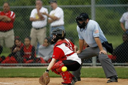 Softball, Player, Umpire, Game, Competition, Play