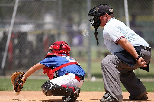 Baseball, Catcher, Umpire, Sport, Field, Player