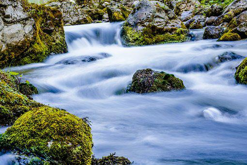 Torrent, Water, Mountain, River, Clear, Rock, Nature