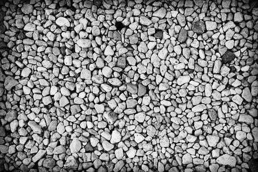 Stones, Sassi, Rocks, Pebbles, Gravel, Black And White