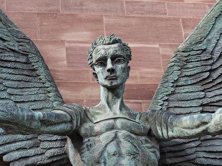 Saint, Michael, Angel, Sculpture, Archangel, Victory
