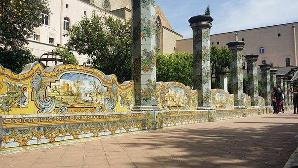 Naples, Santa Chiara, Monastery, Historical Centre