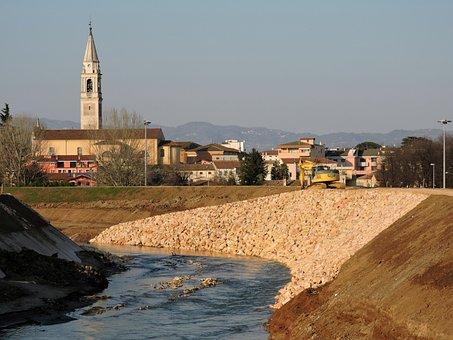 River, Sassi, Levee, Campanile, Landscape