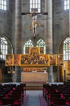 Schwäbisch Hall, St Michael, Altar, Church
