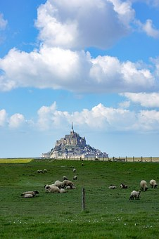 Mont Saint Michel, Sea, Island, Stones, Normandy