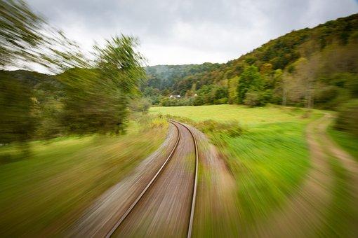 Train, Travel, Seemed, Steel, Drive, Shutter Speed