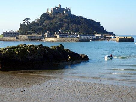 Cornwall, England, St Michael's Mount, Coast, Stand