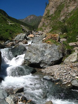 Torrent, Rock, Mountain, River, Stone, Water, Stream