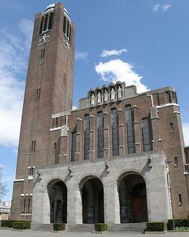 Christus Koningkerk, Antwerpen, Belgium, Church, Tower