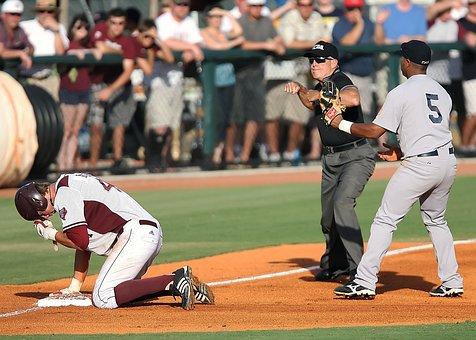 Baseball, Umpire, Call At Third, Play At Third
