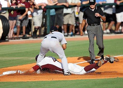 Baseball, Third Base, Play At Third, Umpire