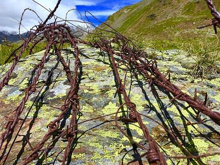 Barbed Wire, First War, Mountain, Valtellina, Stone