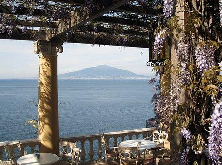 Vesuvius, Gulf Of Naples, Italy, Bower, Idyll, Volcano