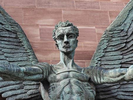 Saint, Michael, Angel, Sculpture, Archangel, Victory