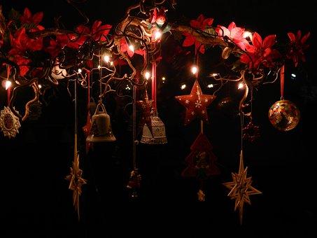 Christmas, Advent, X Mas, Deco, Star, Bells
