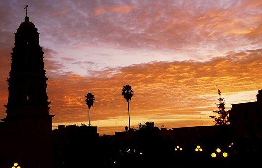 Fresnillo, Zacatecas, Mexico, Sun Set, Cloud, Orange