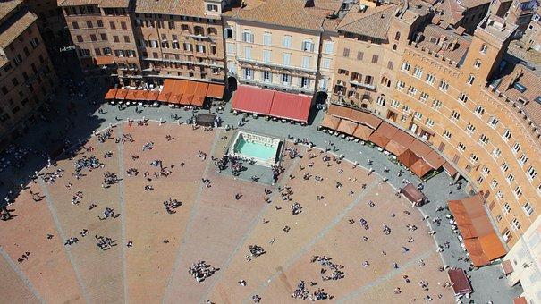 Siena, Piazza, Middle Ages, Architecture, Landscape