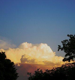 Cloud, Big, Cumulus, White, Light, Puffy, Blue Sky