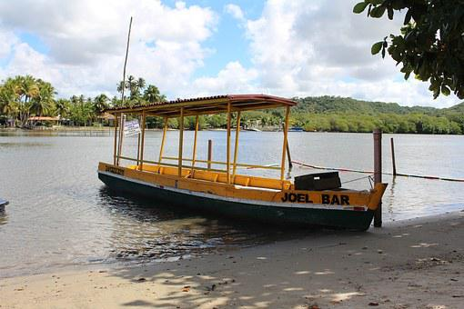 Boat, Massagueira, Landscape, Rio, Boat Maceió