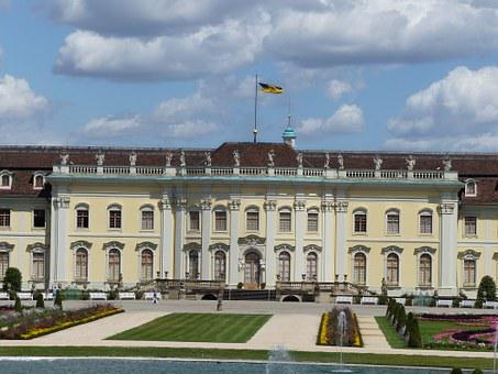 Ludwigsburg Germany, Castle, Park, Sky, Blue
