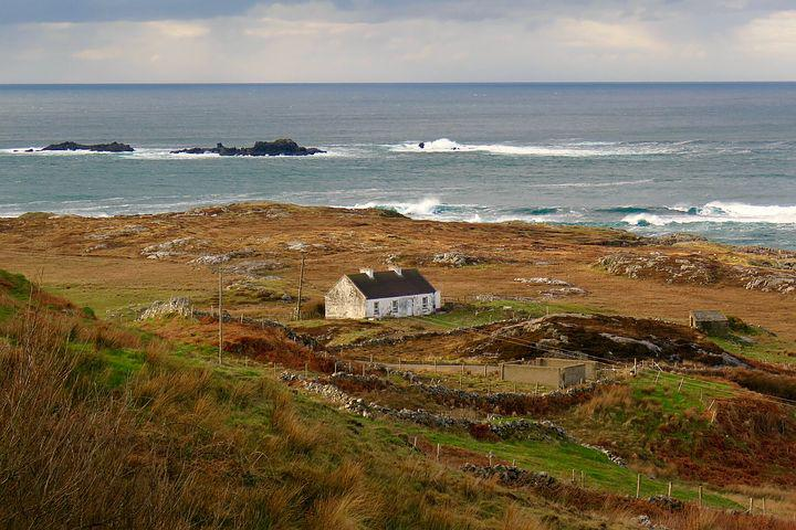 Landscape, Cottage, Sea, Coastal, Scenic, Nature