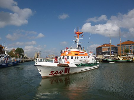 Fireboat, Lifeboat, Sea Rescue, Port