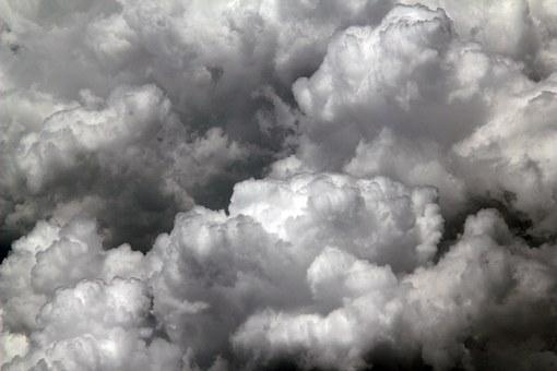 Clouds, Puffy, Journey, High, Fly, Flight, White