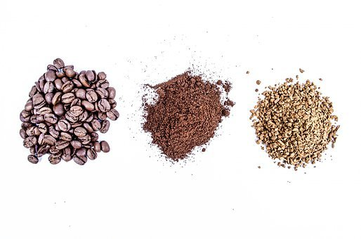 Ground, Ground Coffee, Isolated, Heap, Grain, Instant