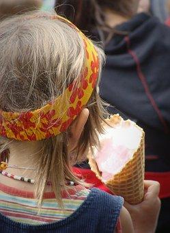 Child, Girl, Ice, Hair Band