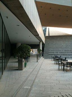 Building, Square, Smoking Area, Ladder