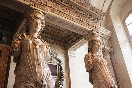 Caryatids, Sculpture, Louvre
