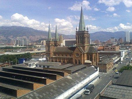 Medellin, City, Urban Landscape, Temple